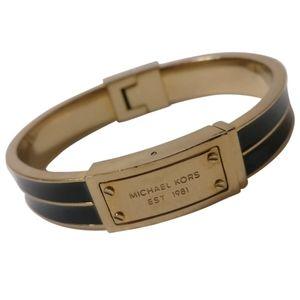 🇨🇦 Michael Kors gold plated hinged bracelet
